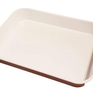 Deep White Plastic Tray
